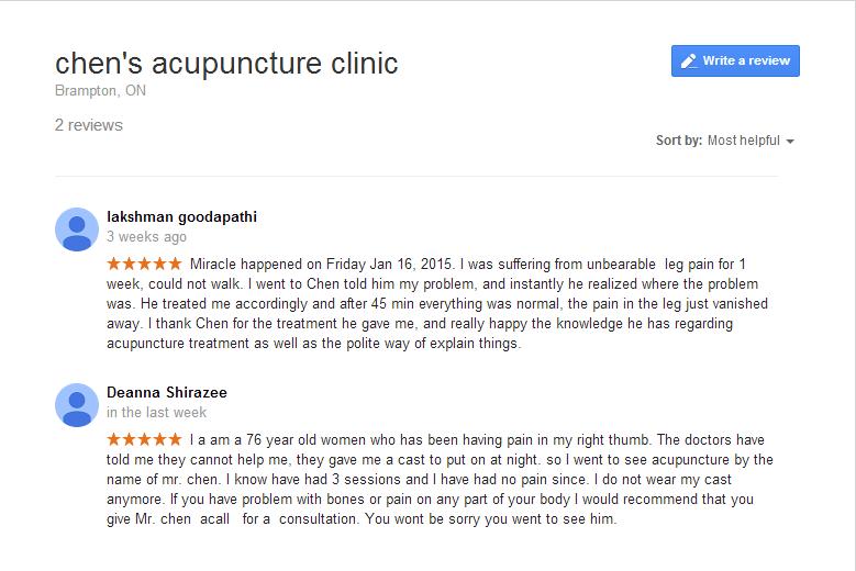 chen's brampton clinic reviews